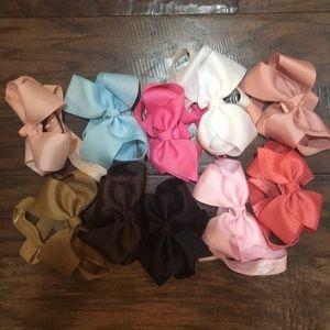 Bundle of baby headbands